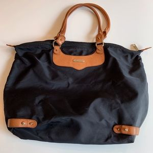 Rebecca Minkoff black nylon tote bag with studs